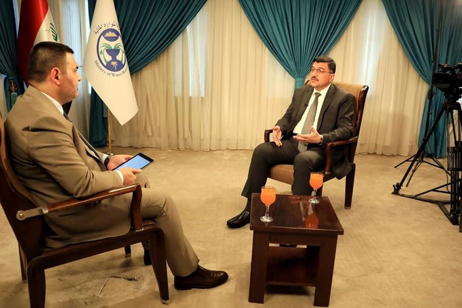 MINISTER OF WATER RESOURCES TV. INTERVIEW WITH AL-RASHEED SATELLITE CHANNAL